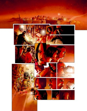 Firewall book 2, colors by Cyril Saint-Blancat, éditions Grand Angle, France