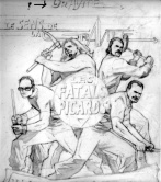 Pencils for the cd cover image. Crayonnés de la pochette face de l'album.